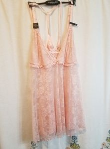 Nwt tahari sexy lace blush negligee lingerie